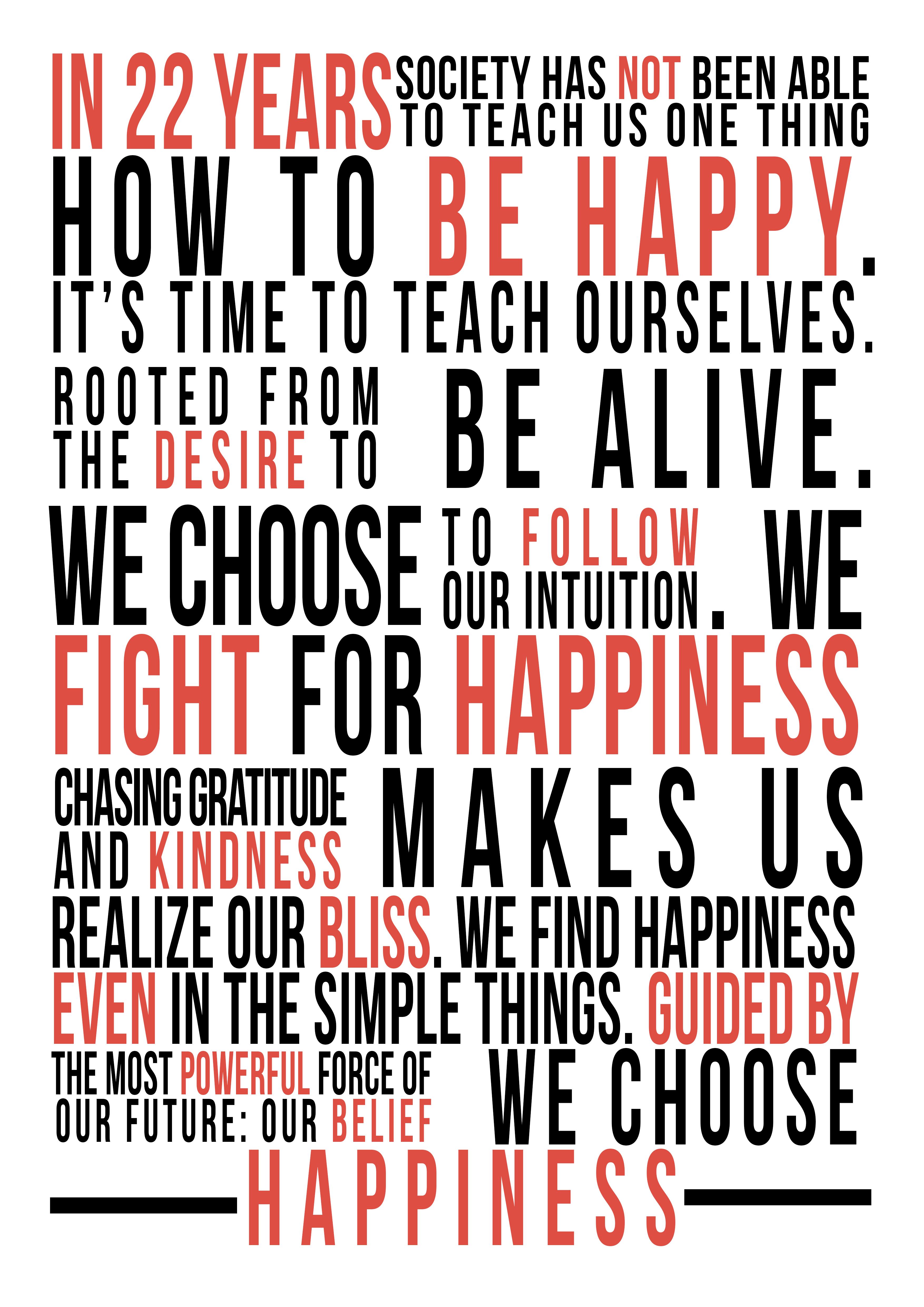 happiness101 manifesto